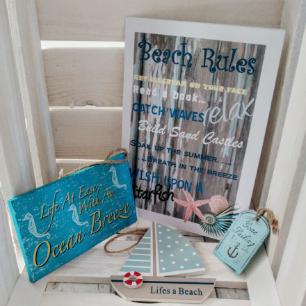 Small Beach sign collection